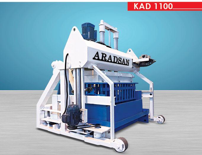 Yürüyen Briket Ve Bordür Taşı Makinası KAD1100