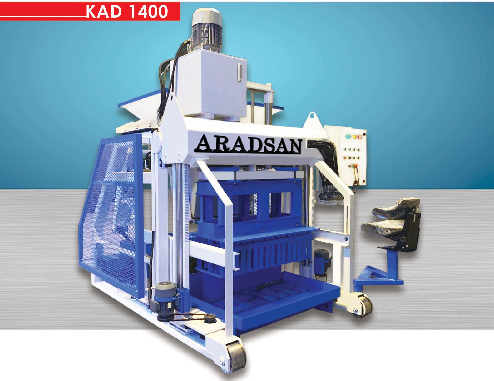 Yürüyen Briket Ve Bordür Makinası KAD1400